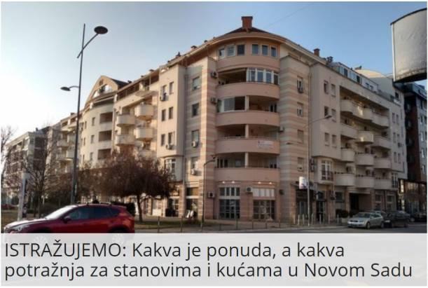 Kakva je ponuda, a kakva potražnja za stanovima i kućama u Novom Sadu