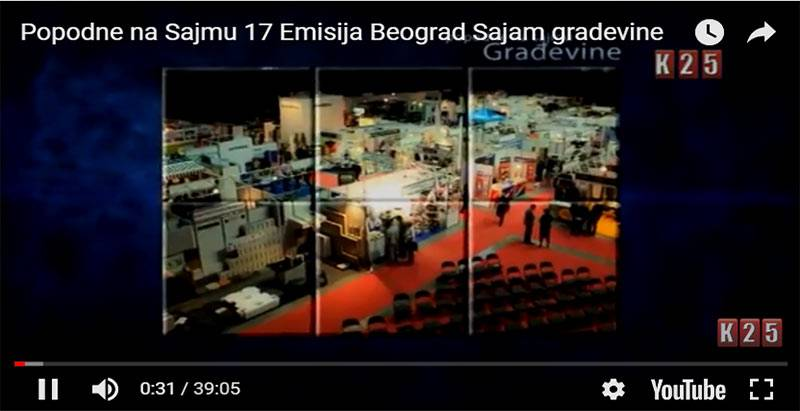 Popodne na sajmu 17 emisija Beograd Sajam gradjevine