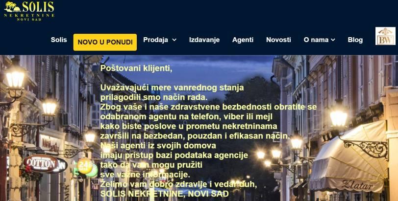 RAD U USLOVIMA VANREDNOG STANJA 16.MART 2020. - 6.MAJ 2020.